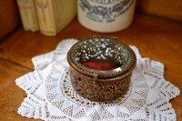 アンティーク ジュエリー ボックス(宝石箱)/小型/真鍮製/イギリス