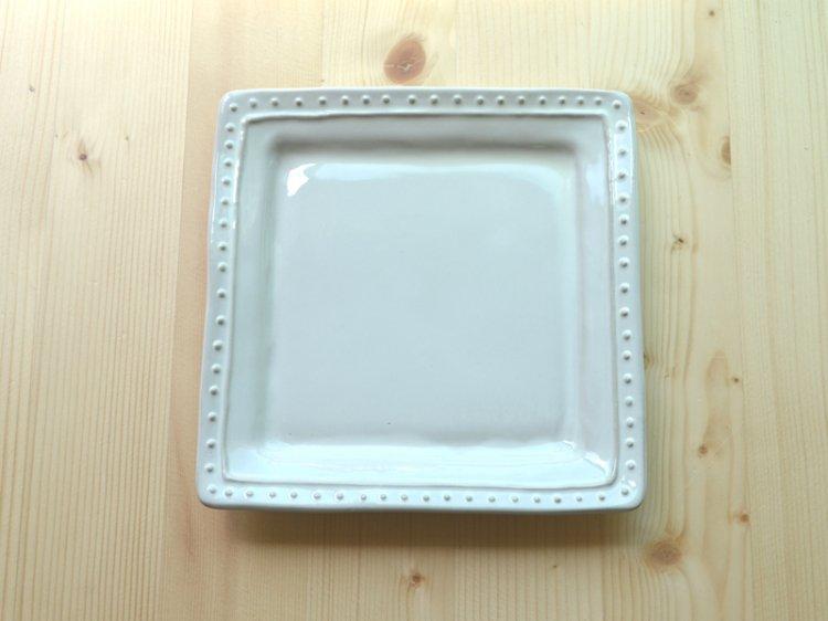 スクエアプレートS ラ・レーヌ(La reine) メゾンブランシュ(maison blanche) 白い 食器 日本製 アンティーク調