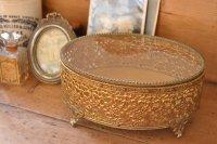 アンティーク ジュエリー ボックス(宝石箱)/真鍮製/アメリカ