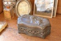 アンティーク ジュエリーケース アクセサリーケース 宝石箱 小物入れ 鉄製 アメリカ
