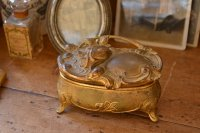 アンティーク ジュエリーケース アクセサリーケース 宝石箱 小物入れ 真鍮製 アメリカ