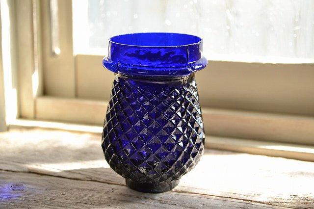 アンティーク イルミネーション グラス コバルトブルー