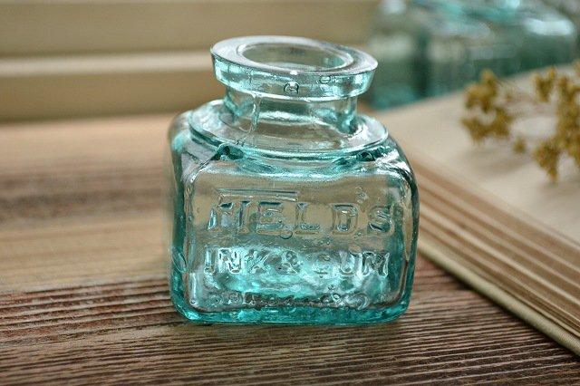 気泡が沢山入った濃い色のインク瓶/お店づくり、お部屋づくりにピッタリ/インテリア/ディスプレイ