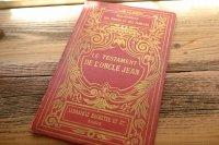 イラスト入り赤いフランスのアンティークブック・本(フランスの洋書、古書) 児童書/子どもの本