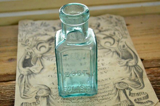 アンティークガラスボトル/薬瓶/TAVU BOOT POLISH