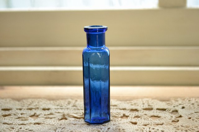 ちいさな薬瓶/コバルトブルー/サンプルサイズ/アンティークボトル