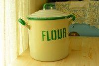 アンティーク ホーロー FLOUR缶(フランス製)/ENAMEL