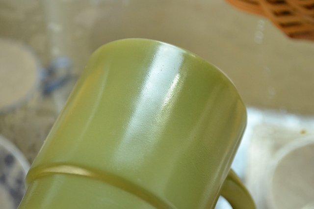 アメリカのファイヤーキング(Fire King)スタッキング マグカップ/グリーンです。