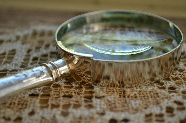 送料無料!アンティークシルバーのルーペ・虫眼鏡 英国スターリングシルバー・銀器(925 純銀) シェフィールド 1925年です。