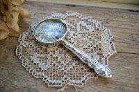送料無料!アンティークシルバーのルーペ・虫眼鏡 英国スターリングシルバー・銀器(925 純銀) シェフィールド 1925年
