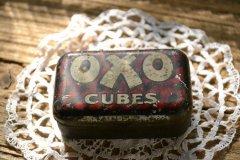 シャビーなオクソOXOブリキ缶/ティンケース/インテリア/ディスプレイ