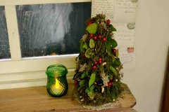 天然素材を使った クリスマスツリー ヴェール