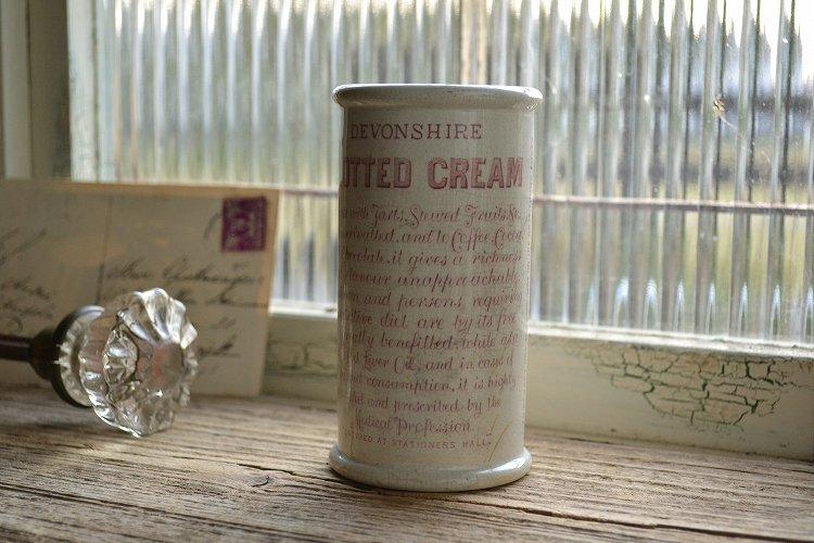 クロテッドクリーム ポット(HORNER'S CLOTTED CREAM) ピンク(薄い赤)ロゴ