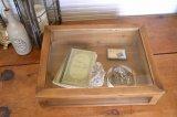 ラスティパイン・ガラスケース L キャビネット FG-06 アンティーク風 COVENT GARDEN/コベントガーデン 家具 収納