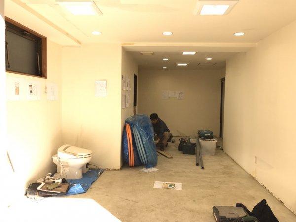 江戸川区中葛西 美容室様開業支援サービスの工事開始!