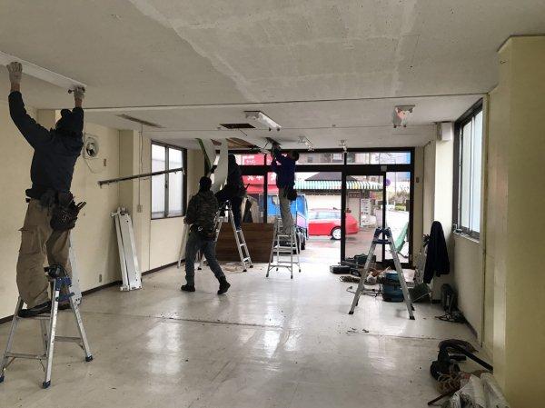 千葉県柏市 美容室様開業支援サービス 工事開始!