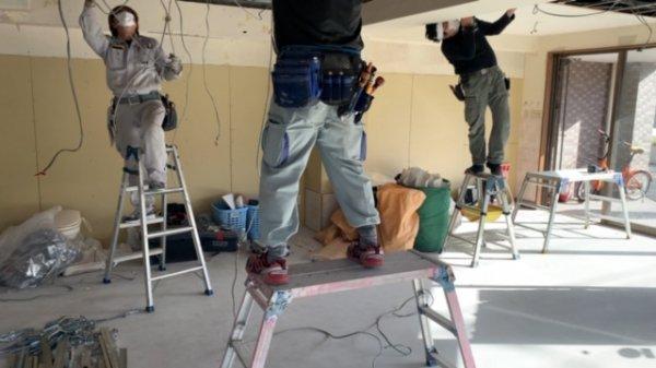 目黒区理容室内装工事着工しました!!