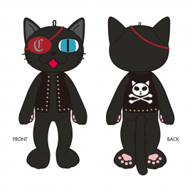 <img class='new_mark_img1' src='https://img.shop-pro.jp/img/new/icons15.gif' style='border:none;display:inline;margin:0px;padding:0px;width:auto;' />【受注生産】HIRO-Cプロデュース ロックにゃーさんぬいぐるみ