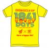 Lady Go!!卒業イベント オリジナルTシャツ by ART JUNKIE イエロー「Mサイズ」