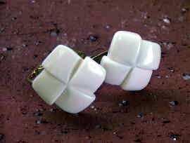 象牙の魔除け本象牙 かざぐるま (イヤリング) ◆ 送料無料商品 ◆の商品写真