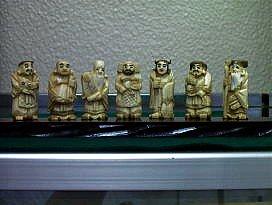 幸運を呼ぶ手作り七福神(象牙美術工芸品)の商品写真