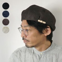 ASYMMETRY  LINEN  BERET<img class='new_mark_img2' src='https://img.shop-pro.jp/img/new/icons6.gif' style='border:none;display:inline;margin:0px;padding:0px;width:auto;' />