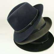 LEATHER BELT WOOL HAT
