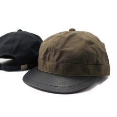 <img class='new_mark_img1' src='https://img.shop-pro.jp/img/new/icons8.gif' style='border:none;display:inline;margin:0px;padding:0px;width:auto;' />Brim Leather Army Cap
