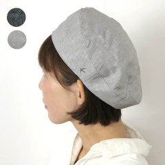 <img class='new_mark_img1' src='https://img.shop-pro.jp/img/new/icons8.gif' style='border:none;display:inline;margin:0px;padding:0px;width:auto;' />Linen Chambray Beret