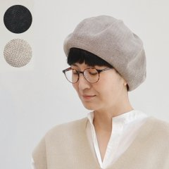 <img class='new_mark_img1' src='https://img.shop-pro.jp/img/new/icons8.gif' style='border:none;display:inline;margin:0px;padding:0px;width:auto;' />Linen Top Shirring Beret