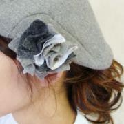 アシンメトリーなベレー帽