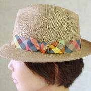 <img class='new_mark_img1' src='https://img.shop-pro.jp/img/new/icons20.gif' style='border:none;display:inline;margin:0px;padding:0px;width:auto;' />20%OFF Check Ribbon Hat