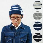 Herringbone Border Knit Cap