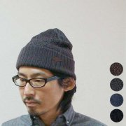 Leather Tag Knit Cap