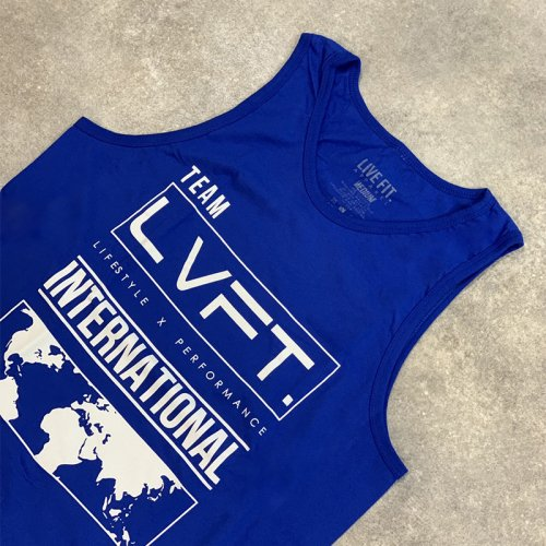 【即お届け】【LIVE FIT】【LVFT】INTERNATIONAL TANK(Blue)<img class='new_mark_img2' src='https://img.shop-pro.jp/img/new/icons7.gif' style='border:none;display:inline;margin:0px;padding:0px;width:auto;' />