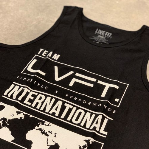 【即お届け】【LIVE FIT】【LVFT】INTERNATIONAL TANK(black)<img class='new_mark_img2' src='https://img.shop-pro.jp/img/new/icons7.gif' style='border:none;display:inline;margin:0px;padding:0px;width:auto;' />