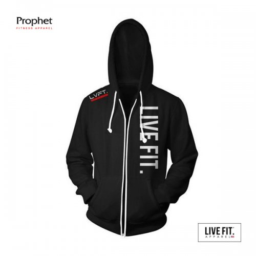 【即お届け】【LIVE FIT】【LVFT】 Live Fit Zip Up(Black)<img class='new_mark_img2' src='//img.shop-pro.jp/img/new/icons7.gif' style='border:none;display:inline;margin:0px;padding:0px;width:auto;' />
