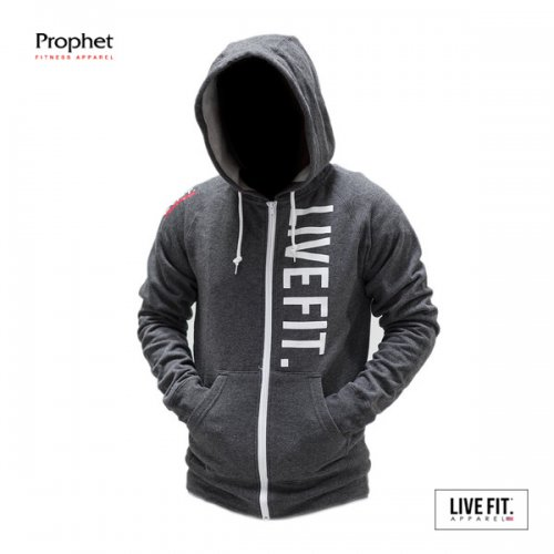 【即お届け】【LIVE FIT】【LVFT】 Live Fit Zip Up(CHARCOAL)<img class='new_mark_img2' src='//img.shop-pro.jp/img/new/icons7.gif' style='border:none;display:inline;margin:0px;padding:0px;width:auto;' />