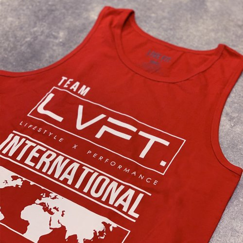 【即お届け】【LIVE FIT】【LVFT】INTERNATIONAL TANK(Red)