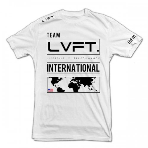 【即お届け】【LIVE FIT】【LVFT】INTERNATIONAL TEE(White)<img class='new_mark_img2' src='https://img.shop-pro.jp/img/new/icons7.gif' style='border:none;display:inline;margin:0px;padding:0px;width:auto;' />