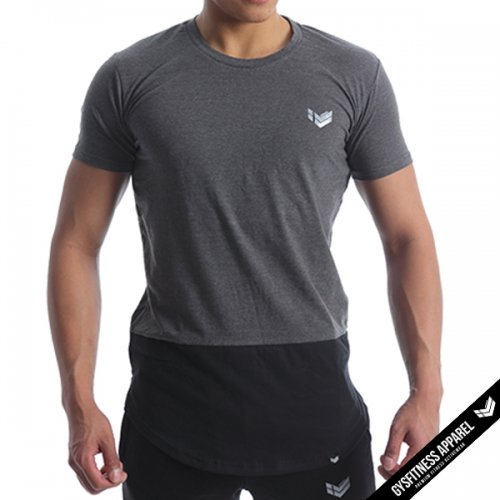 【50%OFF】【即お届け】【GYSFITNESS】ESSENTIAL TEE(GREY/BLACK)<img class='new_mark_img2' src='//img.shop-pro.jp/img/new/icons24.gif' style='border:none;display:inline;margin:0px;padding:0px;width:auto;' />