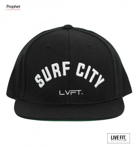 【即お届け】【LIVE FIT】【LVFT】Surf City Snapback(Black/White)<img class='new_mark_img2' src='//img.shop-pro.jp/img/new/icons7.gif' style='border:none;display:inline;margin:0px;padding:0px;width:auto;' />