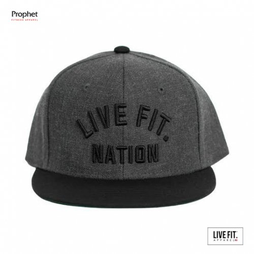 【即お届け】【LIVE FIT】【LVFT】Live Fit. Nation Snapback-(Charcoal/Black)<img class='new_mark_img2' src='//img.shop-pro.jp/img/new/icons7.gif' style='border:none;display:inline;margin:0px;padding:0px;width:auto;' />