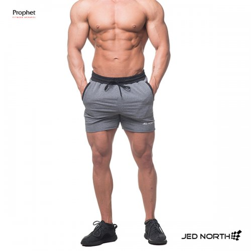 【即お届け】【JED NORTH】MEN'S WORKOUT GYM SWEAT SHORTS(GRAY)<img class='new_mark_img2' src='//img.shop-pro.jp/img/new/icons7.gif' style='border:none;display:inline;margin:0px;padding:0px;width:auto;' />