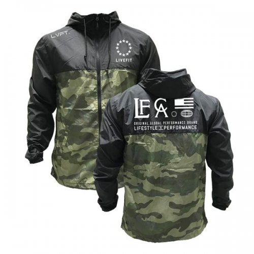 【即お届け】【LIVE FIT】【LVFT】Hardline Windbreaker(Black/Camo)<img class='new_mark_img2' src='//img.shop-pro.jp/img/new/icons7.gif' style='border:none;display:inline;margin:0px;padding:0px;width:auto;' />