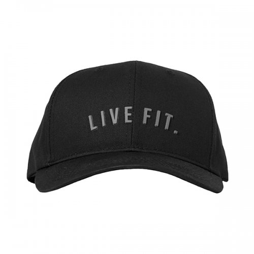 【即お届け】【LIVE FIT】【LVFT】Premium Structured Live Fit. Cap(Black/Grey)<img class='new_mark_img2' src='//img.shop-pro.jp/img/new/icons50.gif' style='border:none;display:inline;margin:0px;padding:0px;width:auto;' />