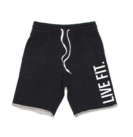【即お届け】【LIVE FIT】【LVFT】French Terry Live Fit shorts(Black Heather)<img class='new_mark_img2' src='https://img.shop-pro.jp/img/new/icons50.gif' style='border:none;display:inline;margin:0px;padding:0px;width:auto;' />