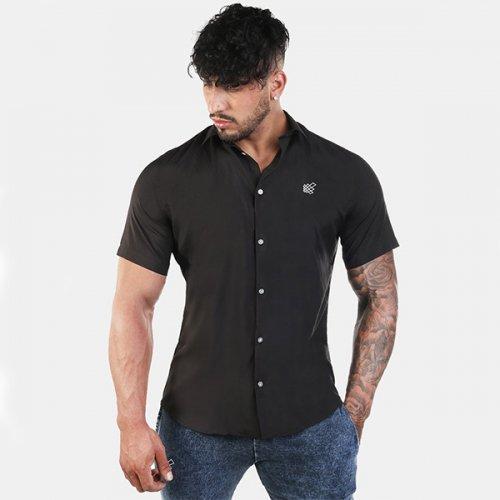 【即お届け】【JED NORTH】Rogue Slim-Fitted Button Up Shirt (Black)<img class='new_mark_img2' src='https://img.shop-pro.jp/img/new/icons7.gif' style='border:none;display:inline;margin:0px;padding:0px;width:auto;' />