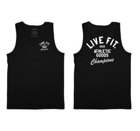 【即お届け】【LIVE FIT】【LVFT】Athletic Goods Tank(Black)<img class='new_mark_img2' src='https://img.shop-pro.jp/img/new/icons7.gif' style='border:none;display:inline;margin:0px;padding:0px;width:auto;' />