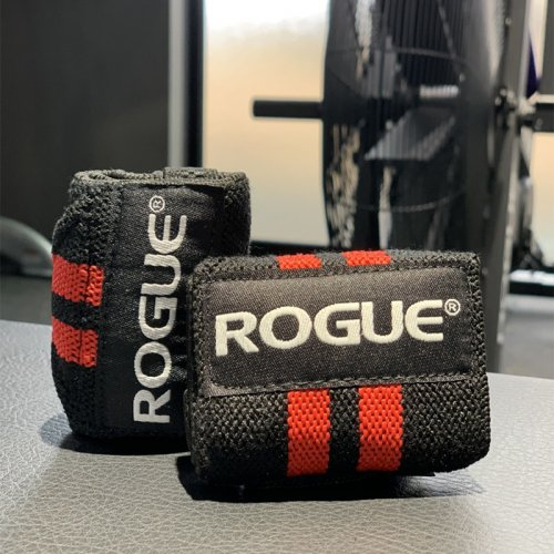 【即お届け】【ROGUE】ROGUE WRIST WRAPS(BLACK/RED)12インチ<img class='new_mark_img2' src='https://img.shop-pro.jp/img/new/icons7.gif' style='border:none;display:inline;margin:0px;padding:0px;width:auto;' />